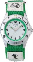 Adora jongens horloge- AY4384 met velcro (=klitten) band- voetbal afbeelding
