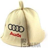 "saunamuts ""Automotive"" met logo Audi geborduurd polyester vilt A-231"