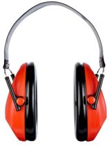 3M Peltor Bull's Eye Gehoorkap met opvouwbare hoofdband H515FB-516-RD, Rood vd Schietsport