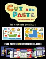 Pre K Printable Worksheets (Cut and Paste Planes, Trains, Cars, Boats, and Trucks)