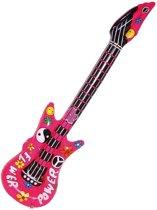 Opblaasbare flower power gitaar