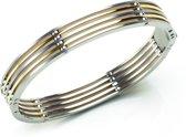 Boccia Titanium 0335-02 Armband - Titanium - Bicolor