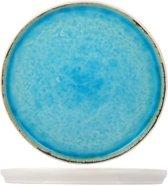 Cosy&Trendy Laguna Ontbijtbord - Ø21,5 cm - Blauw - 6 stuks