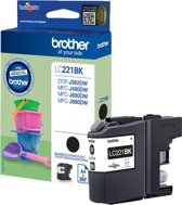 Brother LC221BK - Inktcartridge / Zwart