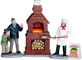Lemax - Outdoor Pizza Oven -  Set Of 4 -  B/o (4.5v)