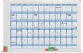 Nobo Planbord jaarplanning 90x60cm incl wisser en markers