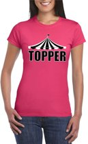 Toppers Pretty in Pink shirt Topper roze voor dames - Toppers dresscode 2018 XL