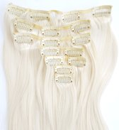 Clip in hairextensions 7 set straight blond - 60#