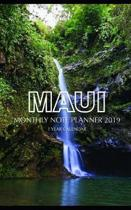Maui Monthly Note Planner 2019 1 Year Calendar