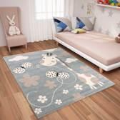 Vloerkleed Kinderkamer Liam 80x150 - Blauw