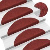 Trapmat trapbekleding trap set 15 rood zelfklevend plakmat plakken