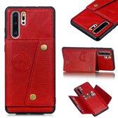Let op type!! Lederen beschermhoes voor Huawei P30 Pro (rood)