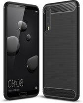 Huawei P20 Plus hoesje - Rugged TPU Case - zwart