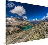Gletsjer in het Nationaal park Hohe Tauern in Oostenrijk Canvas 140x90 cm - Foto print op Canvas schilderij (Wanddecoratie woonkamer / slaapkamer)