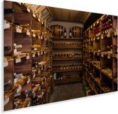 Een wijnkelder Plexiglas 180x120 cm - Foto print op Glas (Plexiglas wanddecoratie) XXL / Groot formaat!