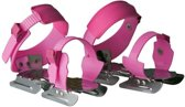 Nijdam Junior Glij-ijzers - Verstelbaar - Grijs/Roze