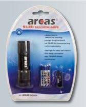 Arcas ARC-9 LED aluminium flashlight with 9 x LED incl. 3 x AAA R03 batteries