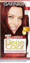 Garnier Belle Color 51 - Donker Mahonie - Permanente Haarkleuring - Dekt Grijze Haren 100% - Natuurlijk Resultaat