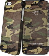 i-Paint cover Camo - groen - voor iPhone 5S/SE