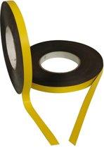 Magneetband kleur Geel 15mm op rol 5 meter