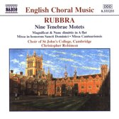 Rubbra: Nine Tenebrae Motets etc / Robinson, Choir of St John's College