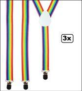 3x Bretel regenboog