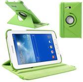 Samsung Galaxy Tab 3 7.0 Lite T110 T111 Hoes Cover 360 graden draaibare Case Beschermhoes groen