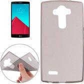 LG G4 - hoes cover case - TPU - Transparant - grijs
