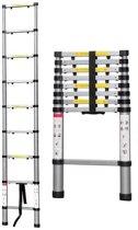 Telescoopladder Telescopische Ladder  Aluminium  2,6 meter