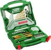 Bosch X-Line borenset - 70-delig - Titanium Plus Serie - Voor hout, metaal en steen