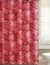 Papillon Textiel Douchegordijn Rode Margrieten 180(b)x200 cm