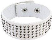 Fako Bijoux® - Armband - Studs - Bolletjes - Wit