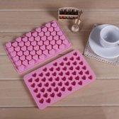 Siliconen Mini Hartjes Ijsvormpjes - Hart Ijsklontjes & Chocolade Vorm / Maker - Hartvorm