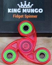 Fidget Spinner Keramische ABEC Lagers | Roze Transparant | KMFS020