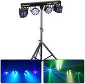 BeamZ PartyBar2 complete lichtset met 2x LED Derby & 2x LED par spot + statief