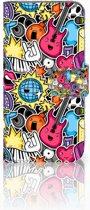 Samsung Galaxy S10e Uniek Boekhoesje Punk Rock