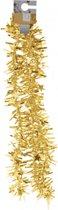 Gouden kerstversiering folieslinger met sterretjes 180 cm