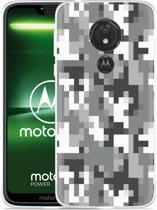 Moto G7 Power Hoesje Pixel Camouflage Grey