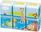 Sophie de Giraf badpuzzel van 6 stapelblokken