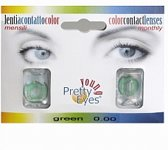 Pretty eyes daglens green 2 st