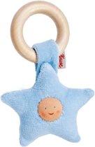 Baby grijpring ster blauw