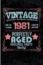 Vintage Quality Without Question One of a Kind 1981 Limited Edition Perfectly Aged Original Parts Mostly