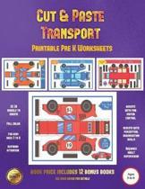 Printable Pre K Worksheets (Cut and Paste Transport)