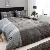 Dreamhouse Bedding Night Comfort - Dekbedovertrek - Eenpersoons - 140x200/220 + 1 kussensloop 60x70 - Grijs