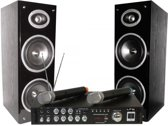 LTC Audio Karaoke set met met display Bluetooth & 2 draadloze microfoons
