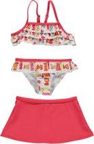 Losan Bikini (3delig) Rood met snoepjes met rokje - Maat 104