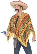 Mexicaanse poncho en snor voor heren