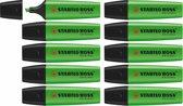 STABILO BOSS ORIGINAL Markeerstift Groen - Doos 10 Stuks