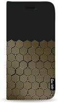 Casetastic Wallet Case Black Samsung Galaxy J4 Plus (2018) - Golden Hexagons