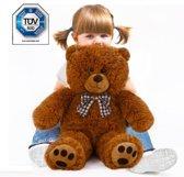 Teddybeer, knuffelbeer, Teddy L, knuffel, 56cm, beer bruin 56 CM